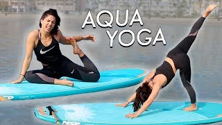DOING YOGA ON A SURFBOARD | MeganBatoon