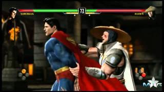 Mortal Kombat vs DCU: Superman vs Raiden fight