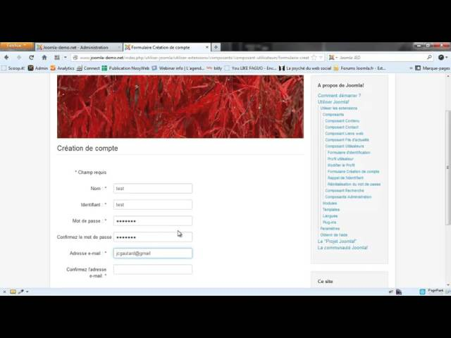 Joomla 3 - Le profil des utilisateurs