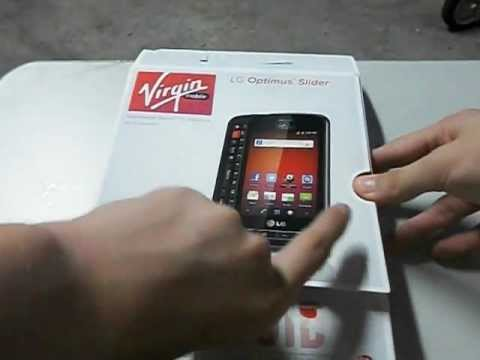 LG Optimus Slider Unboxing (Virgin Mobile)