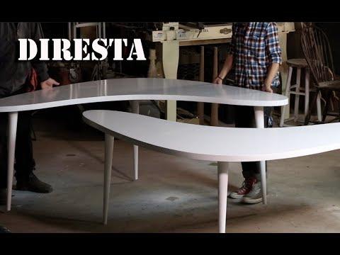 Diresta Two Boomerang Tables