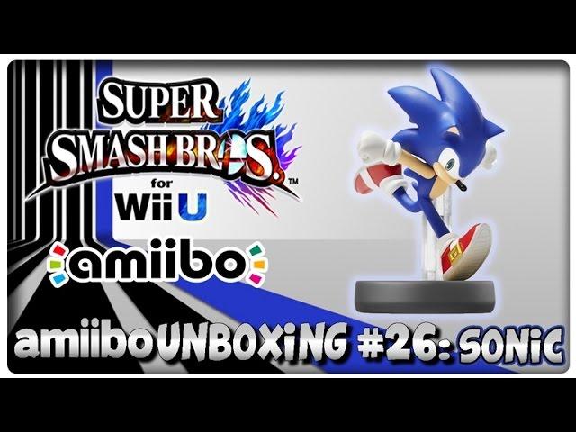 Amiibo Unboxing 26 Sonic Super Smash Bros U Hyrule Warriors Features Youtube