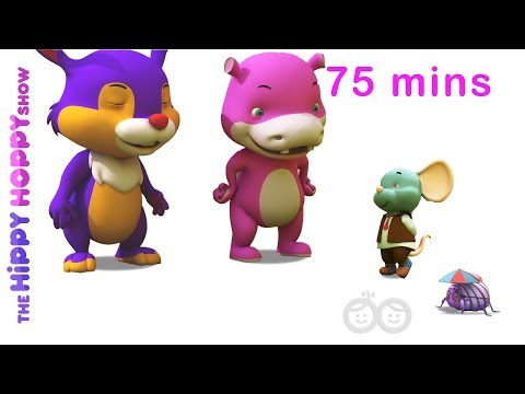 Top 10 Most Popular Animal Rhymes   3D Nursery Rhymes for Kids and Children I 75 Mins Non Stop