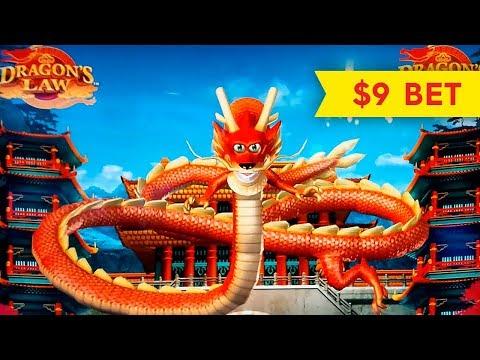 Dragon's Law Slot - BIG WIN BONUS - $9 MAX BET!