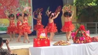 Rước đèn tháng 8 - tốp múa lớp 4 tuổi - Tết trung thu trường mầm non Phùng Chí Kiên