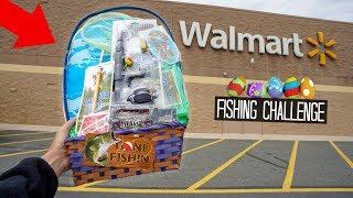 $20 Fishing EASTER BASKET!! Walmart Fishing Challenge!