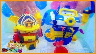 장난감TV 로보카폴리 로이 스페이스 마린팩 물풍선 잠수 구조 인공호흡 놀이 장난감 애니메이션 동영상 Doll Poli Animation