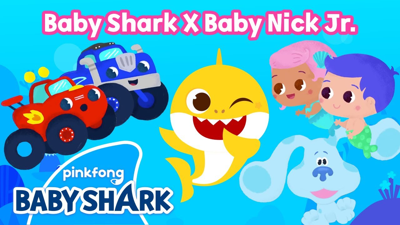 Baby Nick Jr. | Sing with Baby Shark, Blaze, Gil and Blue | Nick Jr. Crew x Baby Shark