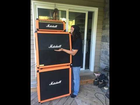 Review of Marshall Valvestate VS100 head with Marshall 1960a cab and m412b cab
