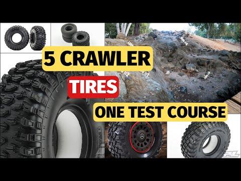 Best RC Crawler Tires  - Proline Hyrax, KM3, Canyon Trail - Part 1 test