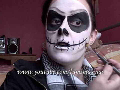 Jack Skellington makeup tutorial - YouTube