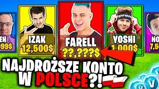 FARELL A LE COMPTE LE PLUS CHER À FORTNITE EN POLOGNE?! 🇵🇱 - RAREST SKINS! (ENTRY TO ACCOUNT: FARELL)