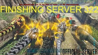 Ark Survival Evolved Official server Raid | Official Server Wipe | Server 322