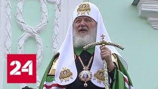 Верующие отмечают день обретения мощей чудотворца Сергия Радонежского - Россия 24