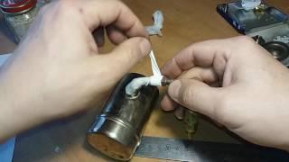 Примус ПТ-1. (ч.3/4) Восстановление, ремонт. Установка штока, фитиля, иглы.