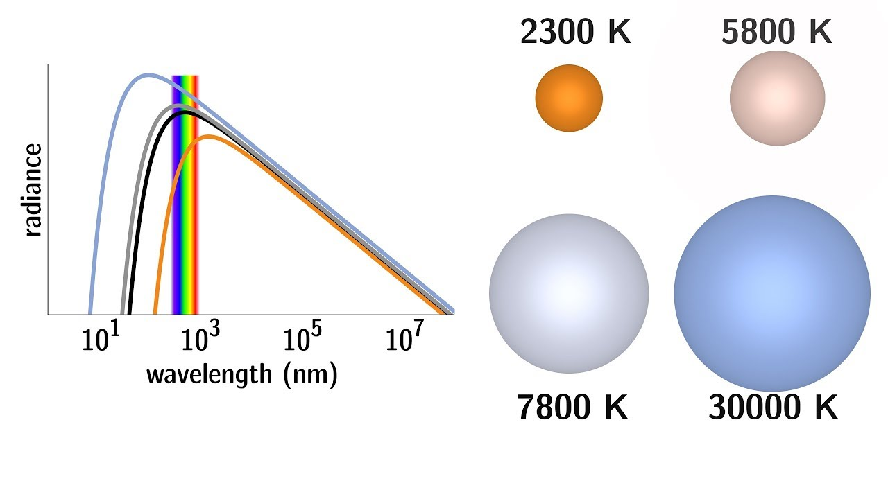 the black body spectrum of a star