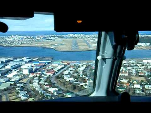 Zagorje on Iceland - Croatia Q400 landing at Reykjavik city airport