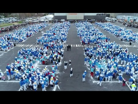World record-breaking Smurf gathering takes place in France | AFP
