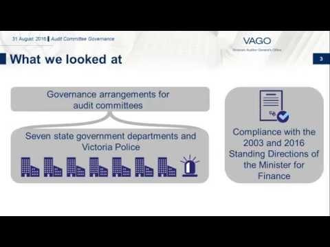 VAGO - Audit Committee Governance
