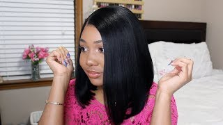 Everyday Minimal Makeup & Jet Black Bob | Premierlacewigs
