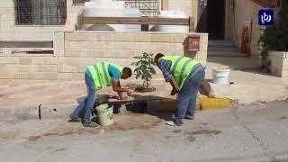 """""""شارعنا أجمل"""" مبادرة للنظافة والزراعة ودهن الأرصفة في الزرقاء - (19-10-2019)"""