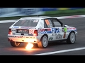 Lancia Delta HF Integrale Rally Group A - Sound, Flames, Action & More!!