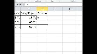 EĞER FORMÜLÜ KULLANIMI Excel Eğitim Videosu