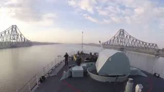 Cool time-lapsed journey through Suez Canal by Canadian Navy ship