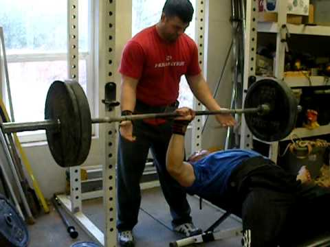 One Arm Bench Press Amazing 185 Youtube