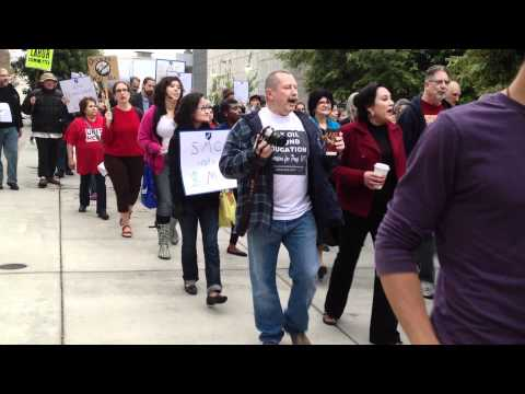 Santa Monica College Students Protesting Tuition [May 1st, 2012]