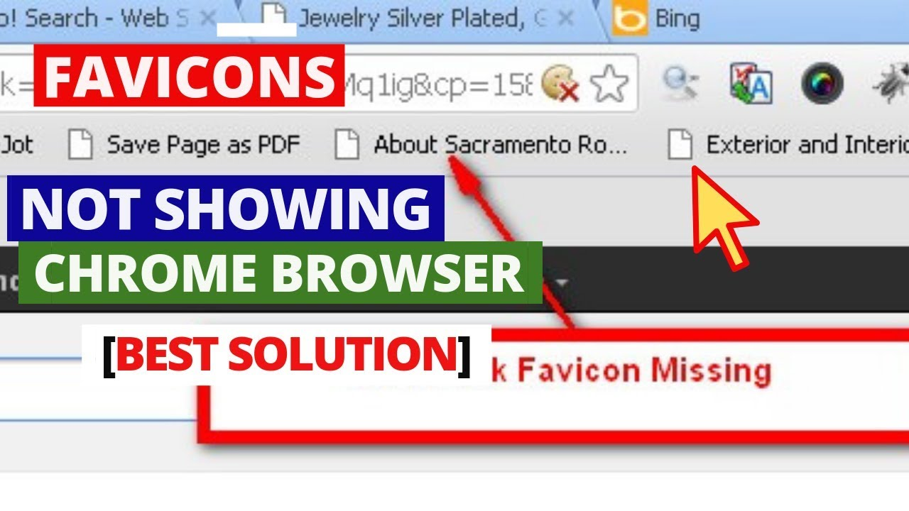 How To Fix Favicons not showing in Google Chrome browser | Solved Missing  Favicons on Google Chrome