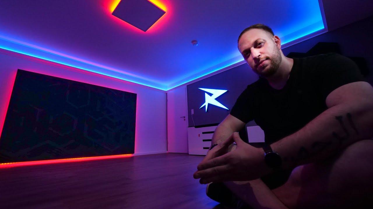 Ich BAUE mein TRAUM GAMING ROOM   LED & Leucht Logo