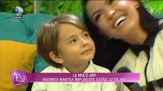 Teo Show (20.09.) - Andreea Mantea, cele mai frumoase aniversari! Astazi implineste 32 de ...