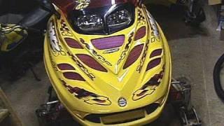 Snowmobile Helmet Electric Shield Wire Install on Ski-doo MXZ 700
