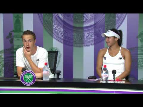 Henri Kontinen and Heather Watson mixed doubles final press