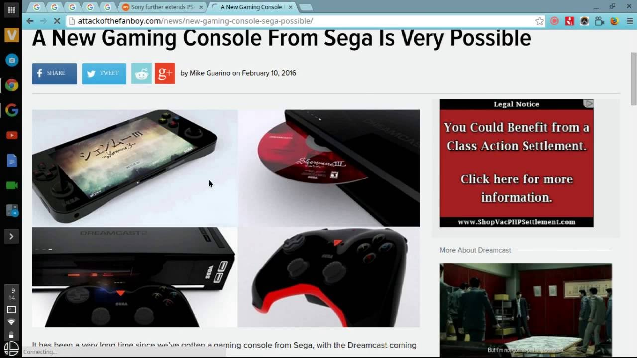 is sega ever making a console in 2016 or 2017 - YouTube