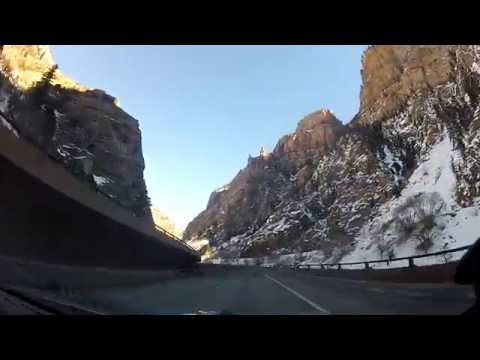 Driving through Colorado Rockies