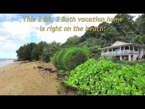 Gorgeous Kauai Beachfront Vacation Rental House right on Anini Beach