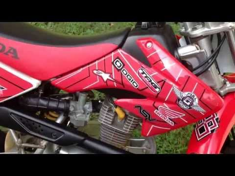 Honda CRF100 with Custom Full Grind Graphics