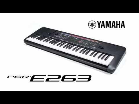 yamaha psr e263 digital keyboard youtube. Black Bedroom Furniture Sets. Home Design Ideas