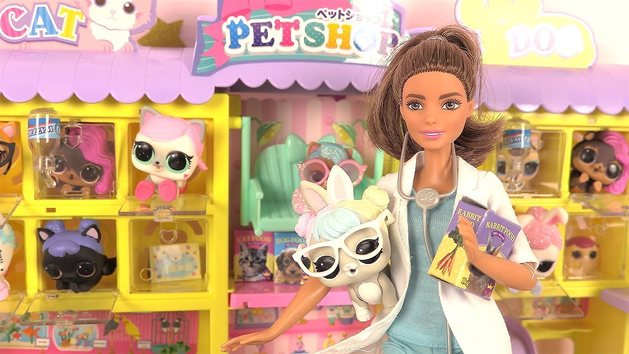 Barbie centre v t rinaire poup es lol animaux pet shop - Barbie veterinaire ...
