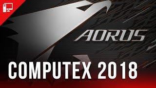 Mostramos as novidades Aorus no estande da Gigabyte na Computex 2018! thumbnail