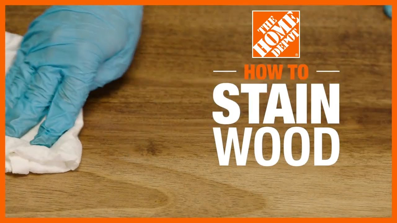 How To Stain Wood You