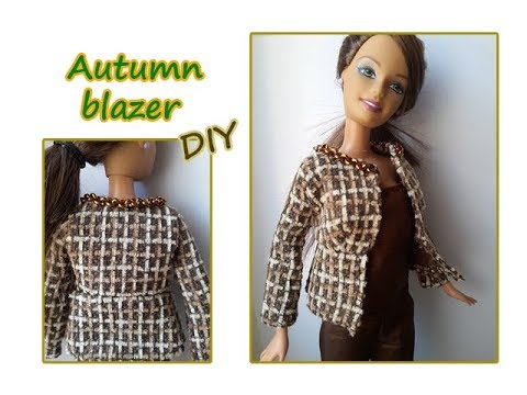 DIY Tutorial Barbie dress: autumn blazer - blazer autunnale
