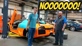 Starting My Lamborghini Murcielago Roadster After An Engine Out Service Was a HUGE FAIL