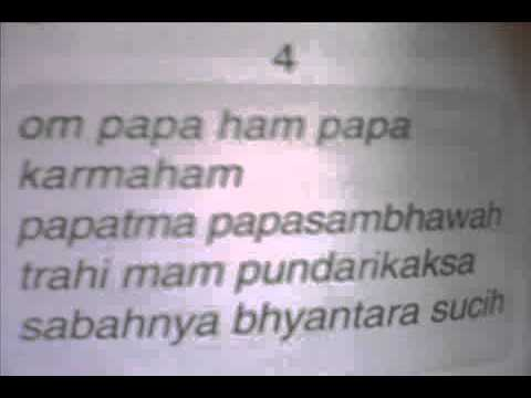 Agama Hindu mantram Tri Sandhya beserta artinya