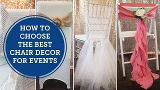 How to Choose the Best Event Chair Style   BalsaCircle.com
