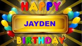 Jayden - Animated Cards - Happy Birthday