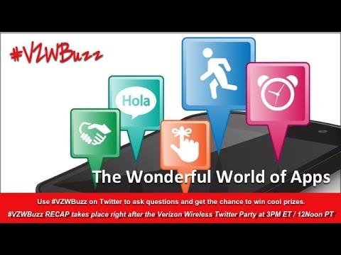 VZWBuzz Recap: The Wonderful World of Apps