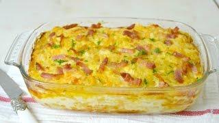 Patatas gratinadas con bacon y queso. Riquísimas y muy fáciles de preparar!